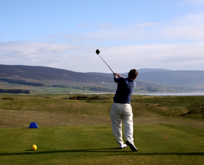 The 5th Tee at Brora Golf Course